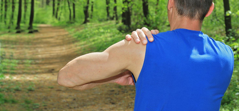 Shoulder injury from running